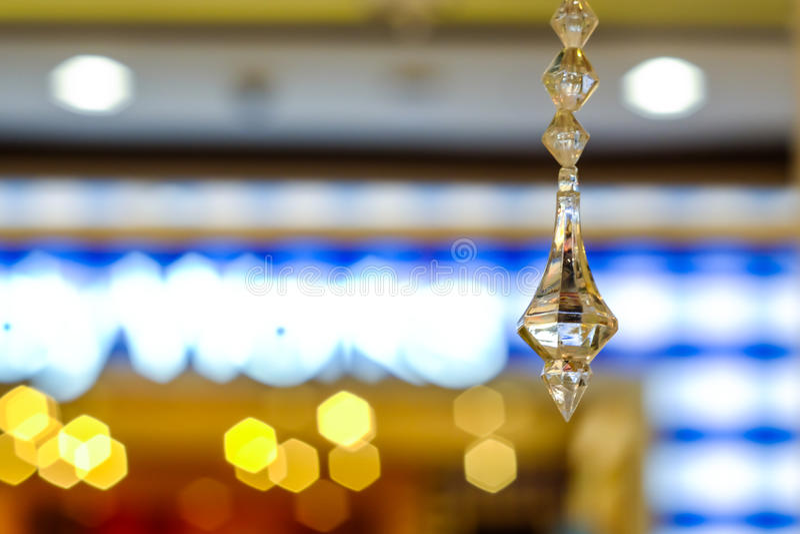 Crystal Chandelier luxuoso Fim acima imagem de stock