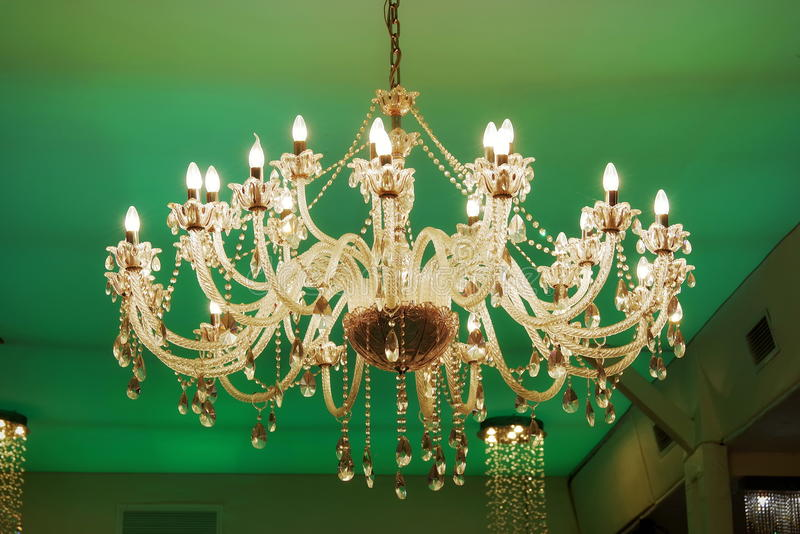 Old crystal chandelier on green background stock image image of download old crystal chandelier on green background stock image image of electric baroque aloadofball