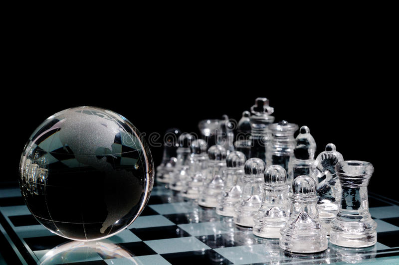 Download Crystal  Chess Board And Figures Stock Image - Image: 17588541