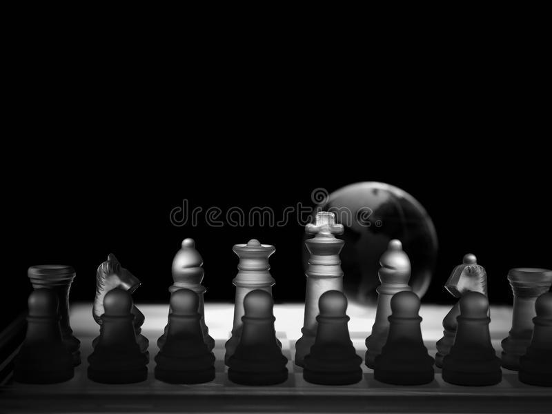 Download Crystal  Chess Board And Figures Stock Photo - Image: 17588550