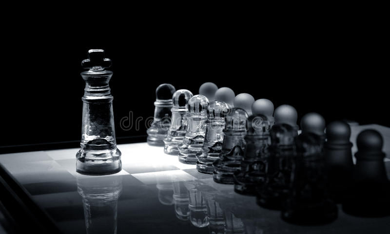 Download Crystal  Chess Board And Figures Stock Image - Image of america, africa: 17588551