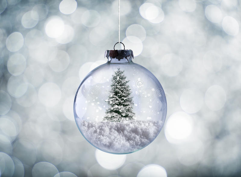 Crystal Christmas ball royalty free stock images
