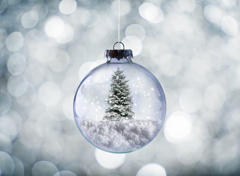 Crystal Christmas boll royaltyfria bilder