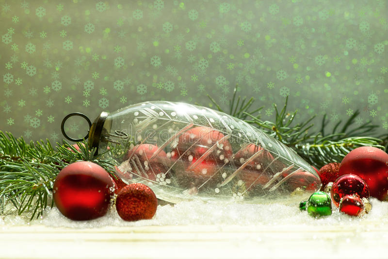 Crystal Christmas Ornament antiguo imagen de archivo libre de regalías