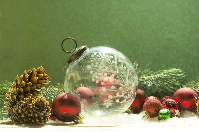 Crystal Christmas Ornament antiguo fotografía de archivo