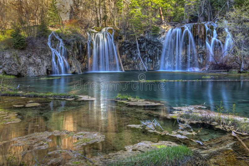 Crystal Clear Hanging Lake royaltyfria foton