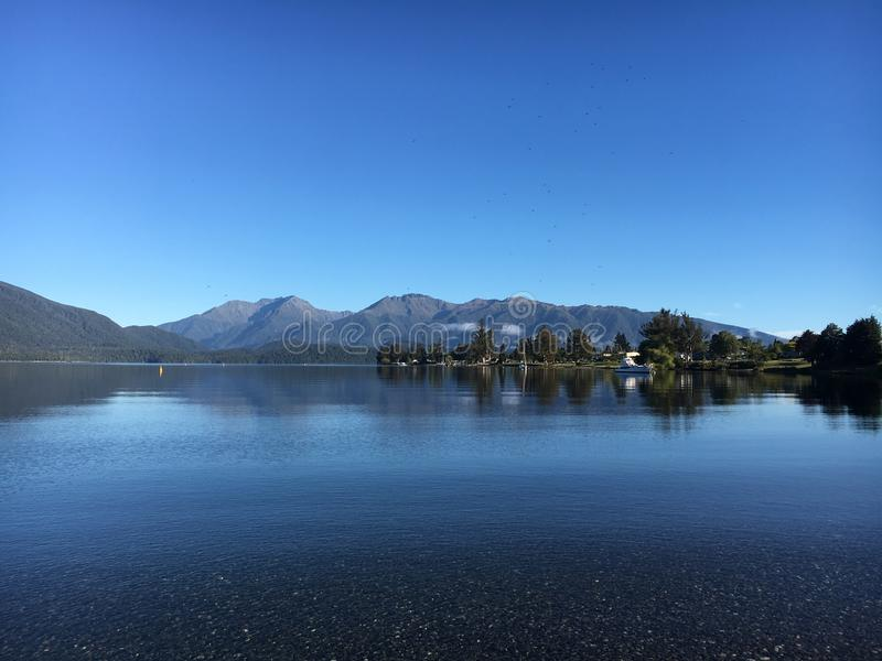 Crystal clear lake peace mind calm. Crystal clear lake royalty free stock photo