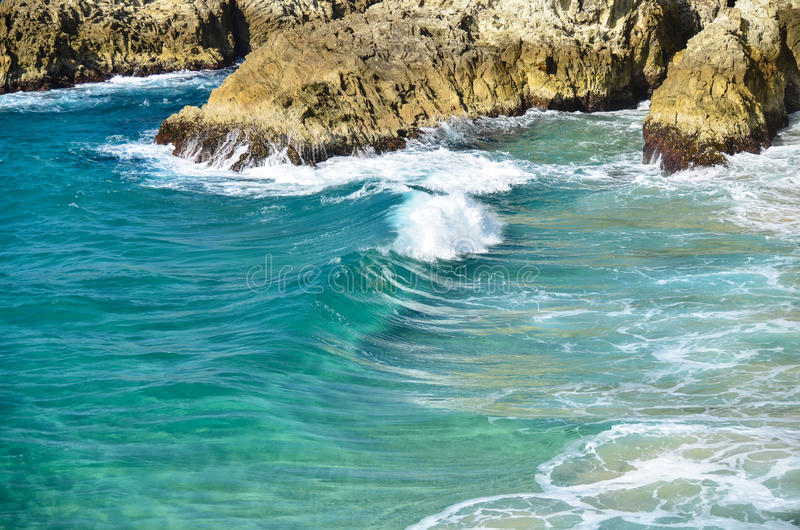 Crystal clear tropical water stock images