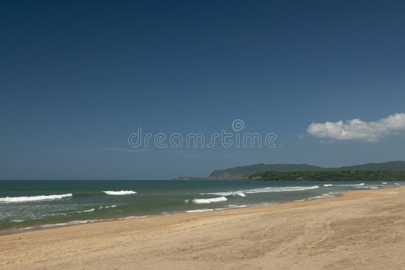 Crystal Clear water at Agonda Beach,South Goa,India. Asia royalty free stock images
