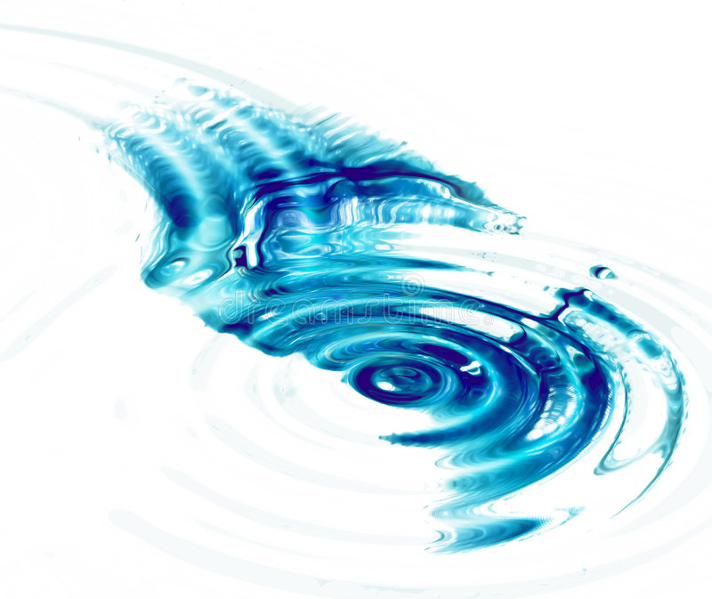 Download Crystal Clear Water Ripples On White Background Stock Illustration - Image: 5999997