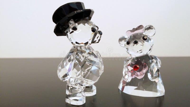 Crystal couple bear stock photography