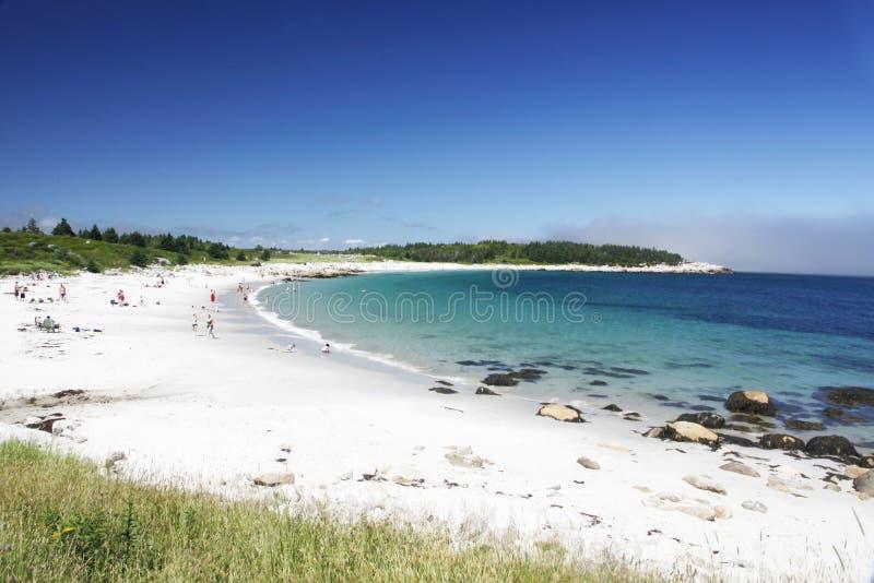 Crystal Crescent Beach in Halifax stock afbeeldingen