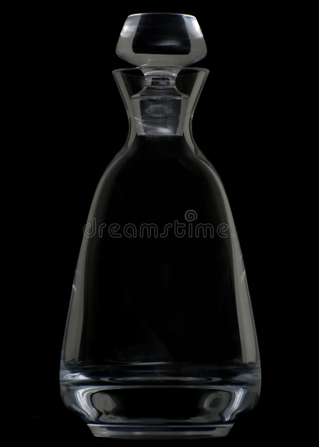 Crystal Decanter on Black stock images