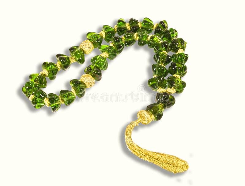 crystal dekorativ green för chaplet arkivbild