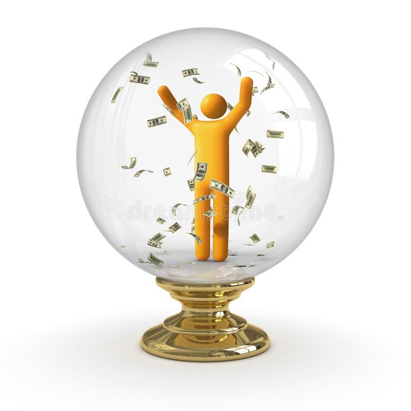 crystal dollarregn för boll stock illustrationer