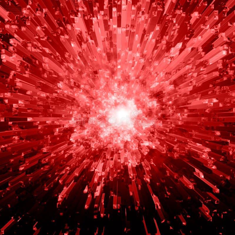crystal explosionred arkivfoto