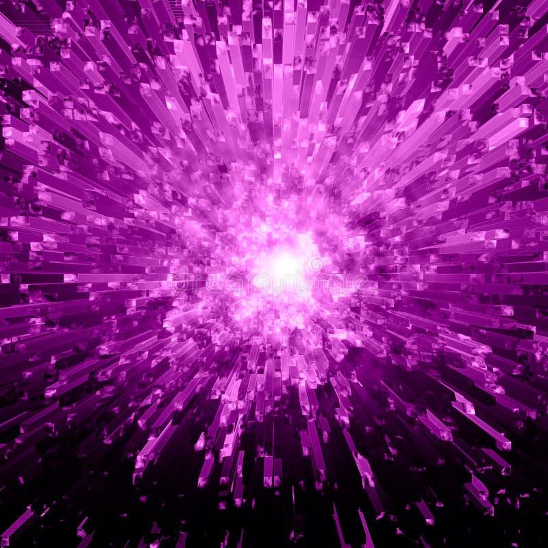 crystal explosionviolet royaltyfria bilder