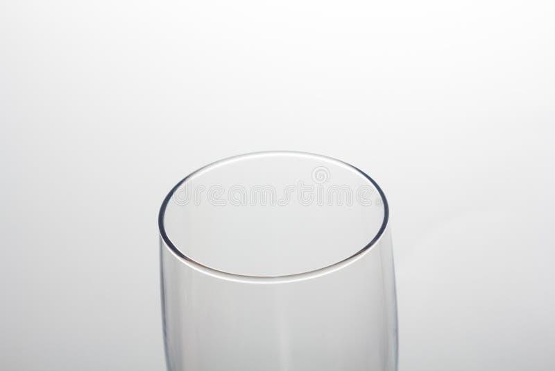 Crystal exponeringsglas på en vit bakgrund fotografering för bildbyråer