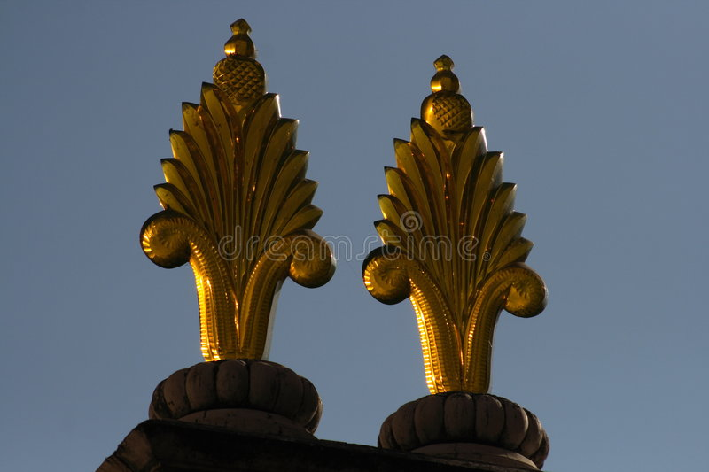 Crystal finial in Udaipur. One of the distinctive crystal finials marking important entrances at the City Palace, Udaipur stock photo