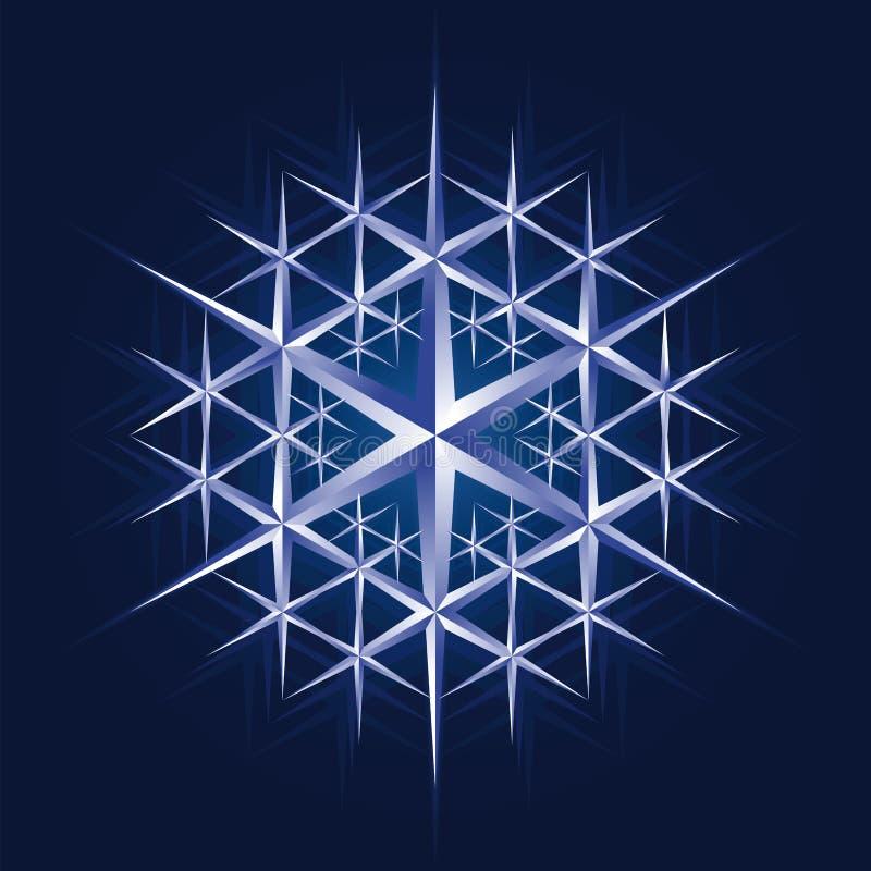 crystal flakesnow royaltyfri illustrationer
