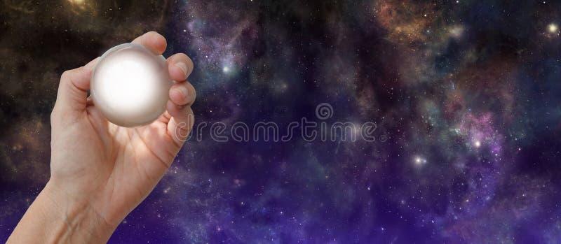 Crystal Gazing Deep Space-achtergrond royalty-vrije stock afbeeldingen