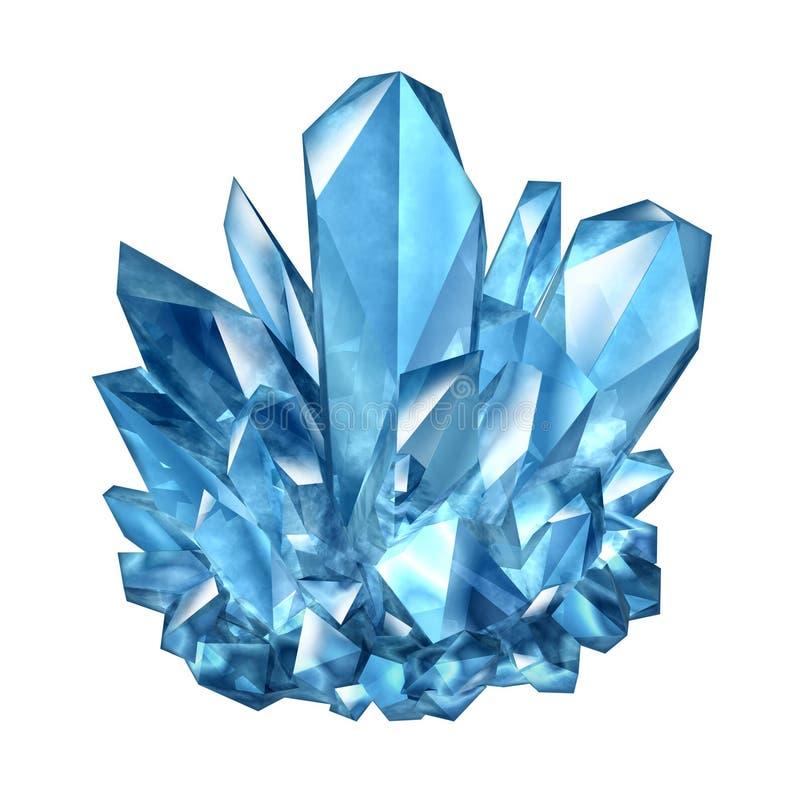 Crystal Gemstone stock abbildung