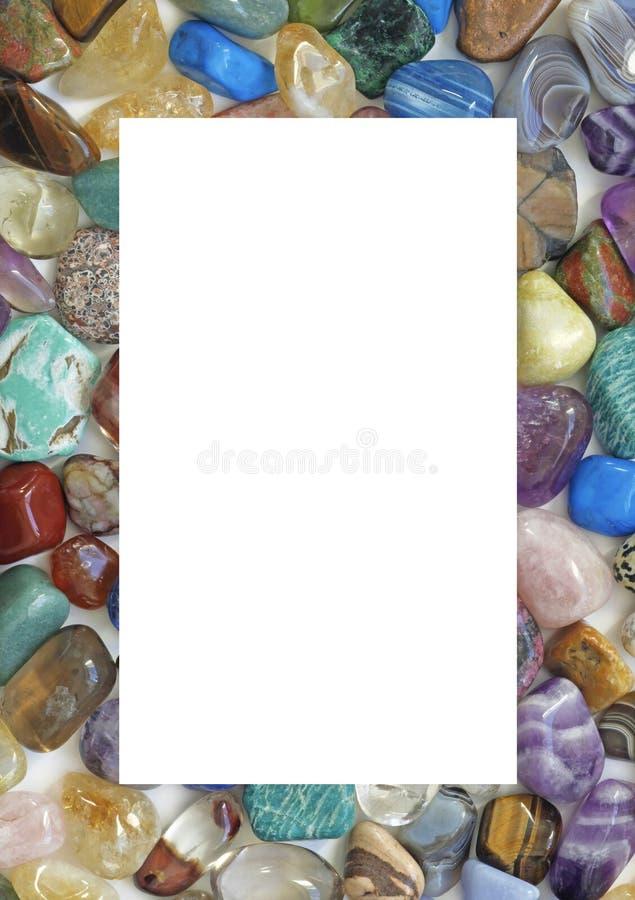 Crystal Gemstone Filled Border guarente immagini stock libere da diritti