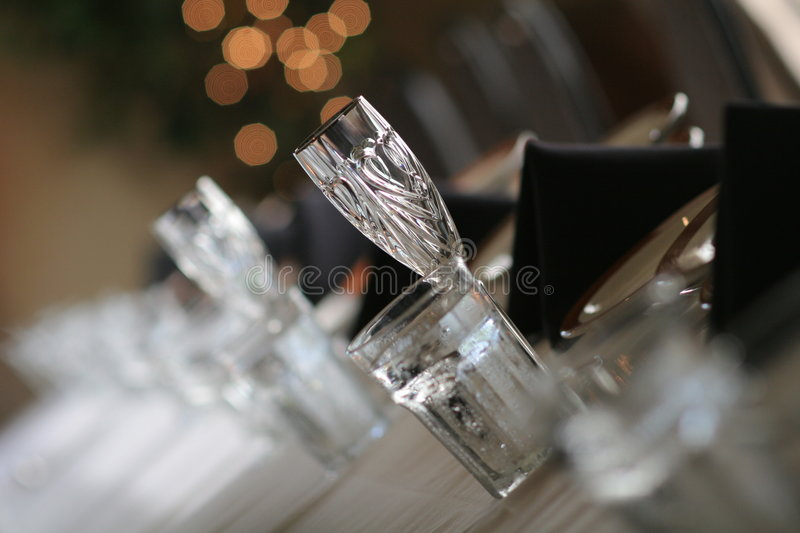 Crystal glass royalty free stock image