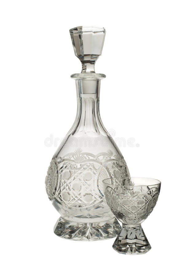 Crystal Glass and Bottle royalty free stock photography