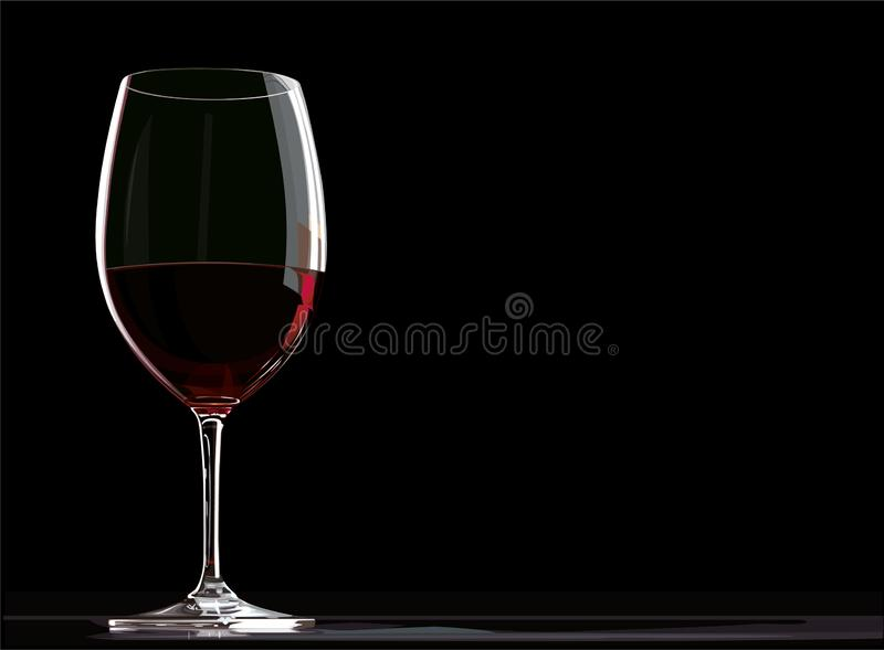 Wine, black, background, red, glass, isolated, alcohol, wineglass, drink, crystal, closeup, celebration, reflection, party, merlot stock images
