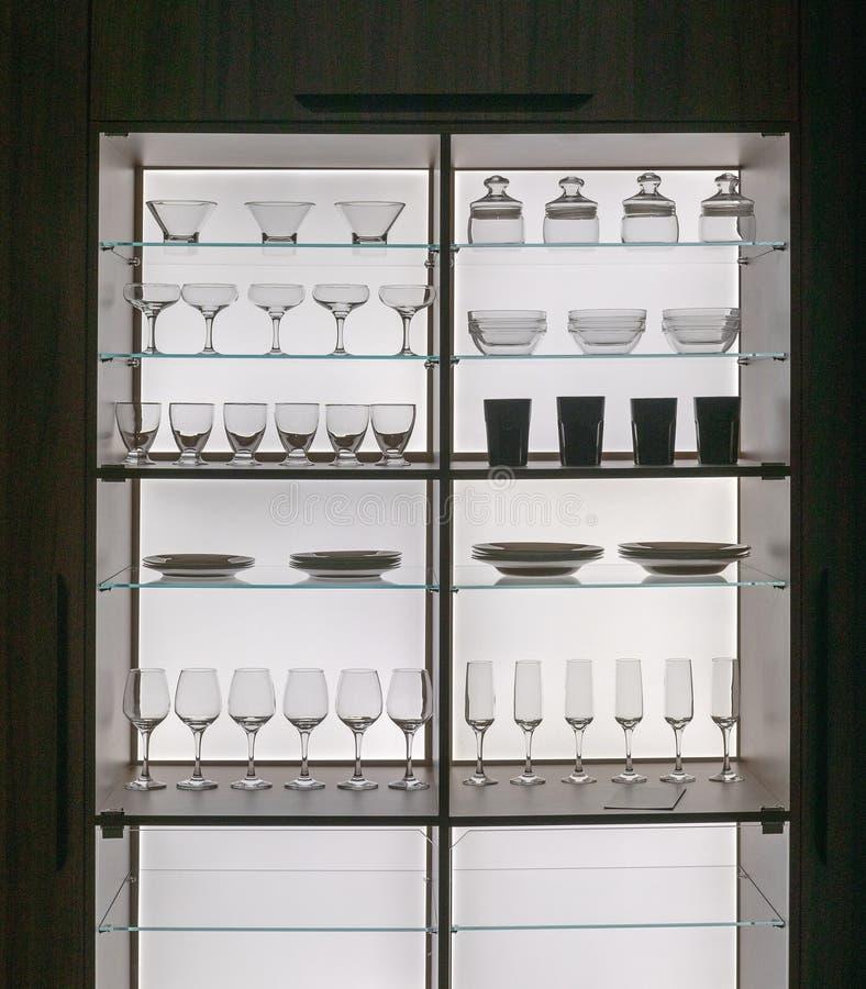 Crystal Glass Shelf fotografie stock libere da diritti