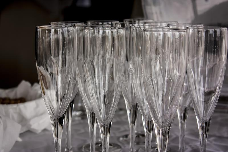 Crystal Glasses fotografia stock libera da diritti