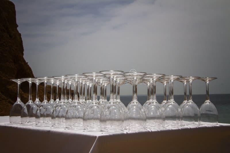 Crystal Glasses fotografia stock