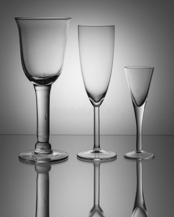 Crystal Glasses stock foto's