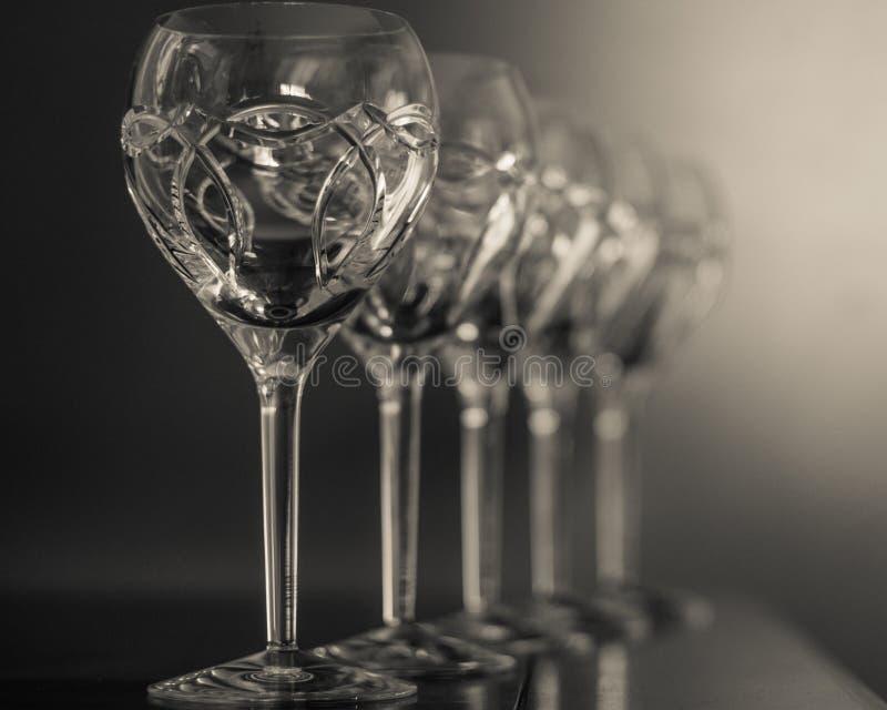 Crystal Glasses stockfoto
