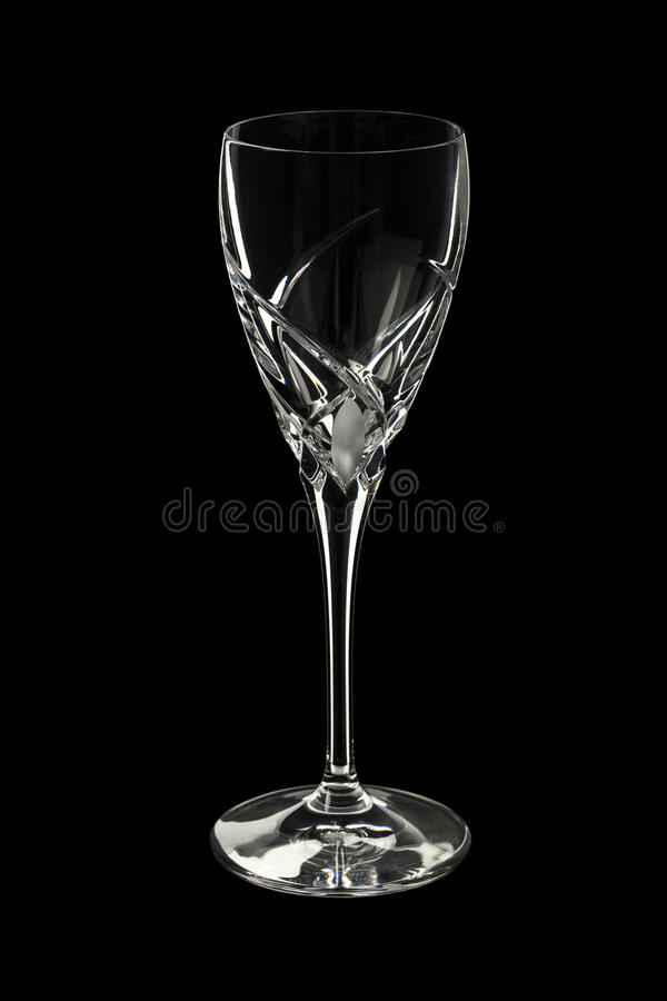Crystal goblet stock photography