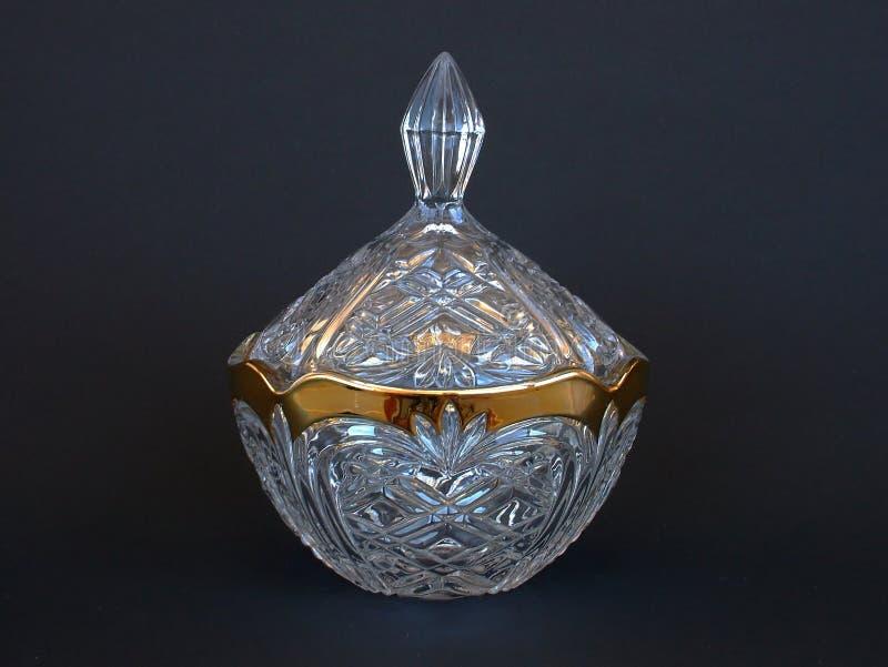 Crystal and Gold Jar stock photos