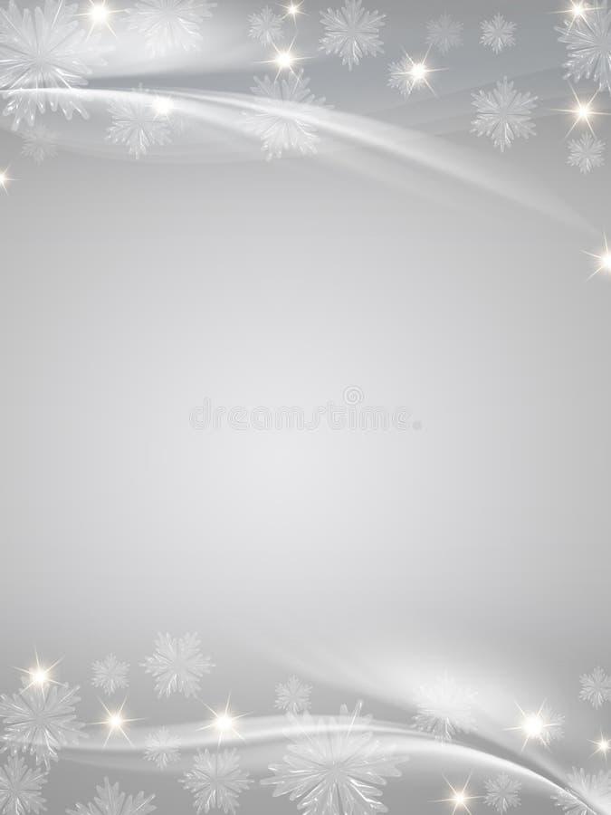 crystal gråa snowflakes för bakgrund stock illustrationer