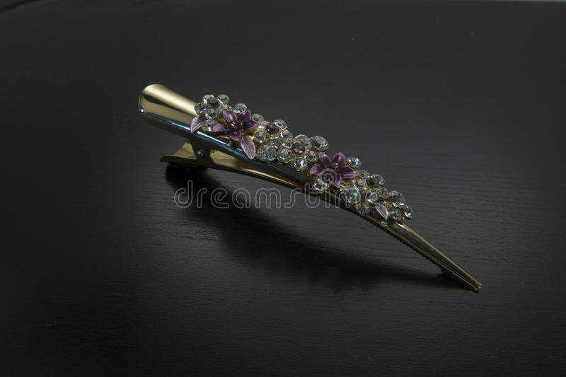 Crystal Hair Clip extravagante/Barrette imagem de stock royalty free