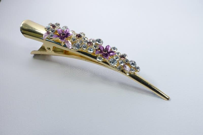 Crystal Hair Clip extravagante/Barrette imagens de stock royalty free