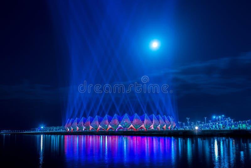 Crystal Hall. Baku - JUNE 11, 2014: Crystal Hall on June 11 in Azerbaijan, Baku. Crystal Hall hosted Eurovision song contest in 2012 stock photography