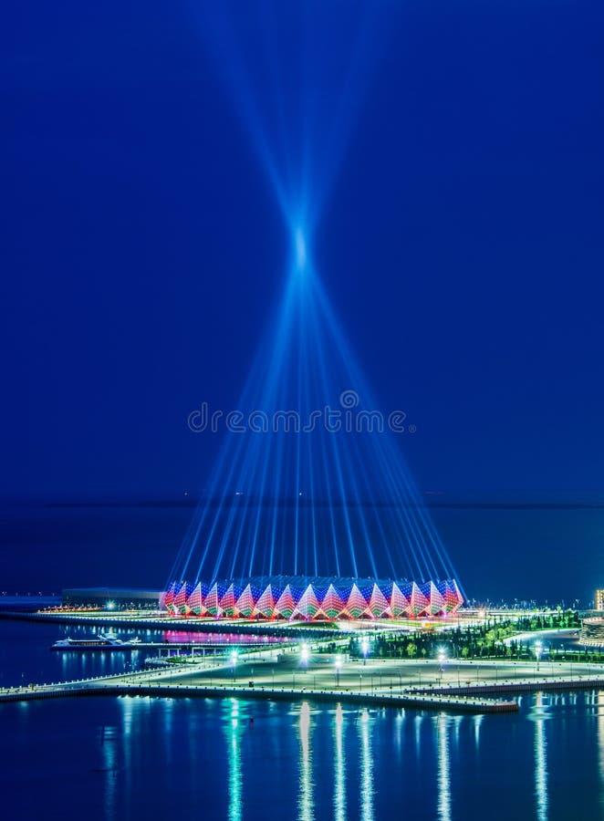 Crystal Hall i Azerbajdzjan, Bak royaltyfri foto