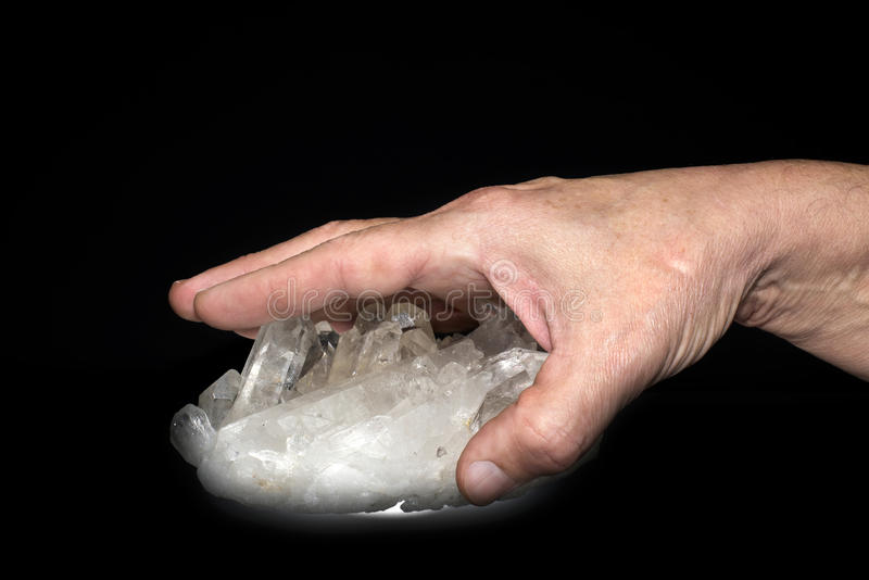Crystal hand stock image