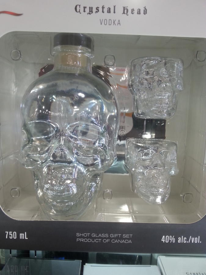 Crystal head vodka gift set royalty free stock images