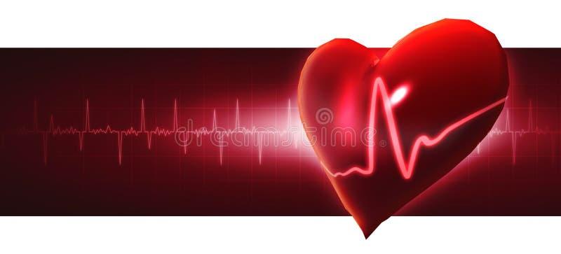 Crystal Heart ilustração stock