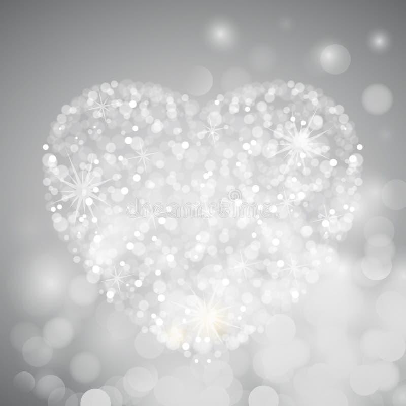 Crystal Heart of bokeh. Crystal heart with bokeh, vector art illustration royalty free illustration