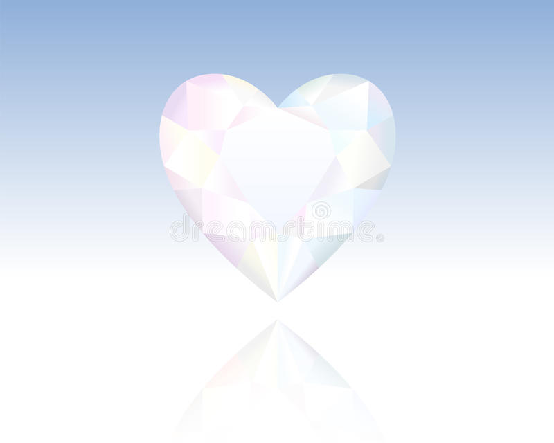 Download Crystal Heart stock vector. Image of gemstone, reflection - 35174004