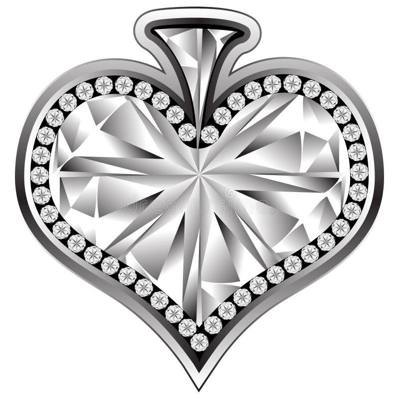 crystal hjärta stock illustrationer