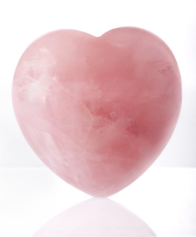 crystal hjärtapink royaltyfria bilder