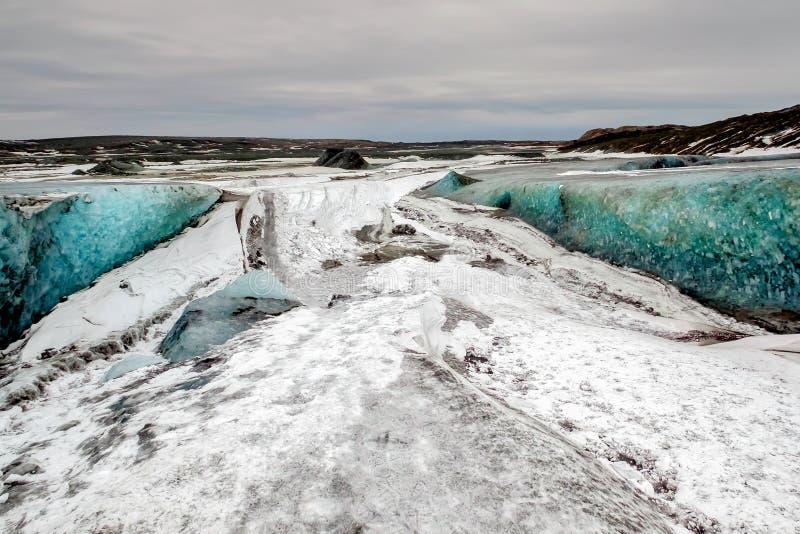 Crystal Ice Cave dichtbij Jokulsarlon stock fotografie